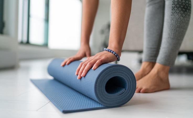 Meditation gegen Angst: Yogamatte