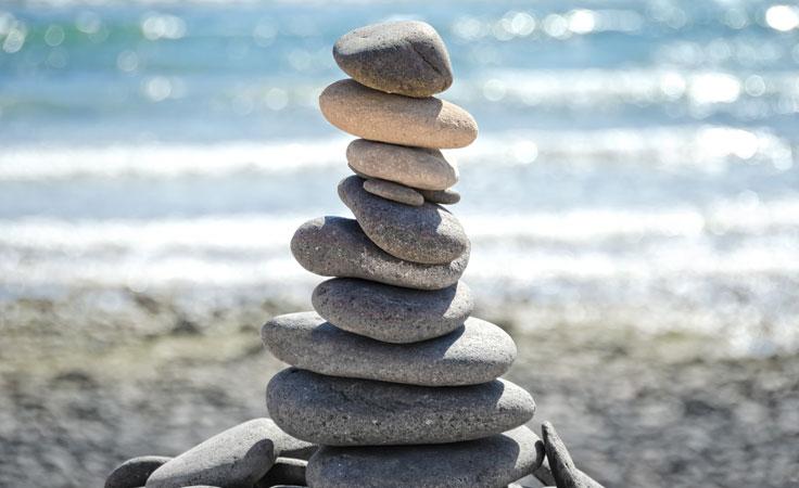 Stressreduktion am Meer